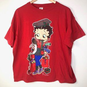 Vintage 1994 Betty Boop Christmas Shopping T-Shirt